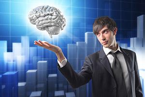 Boy raises a human brain