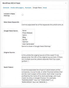 Ideas & Business – Tutorial, screenshot area SEO – Google News