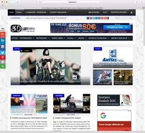 Ideas & Business S.r.l. – Screenshot della home page di DisabileDoc.it