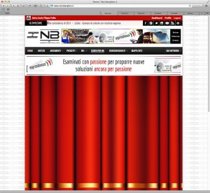 Ideas & Business S.r.l. – Screenshot della home page di Nirisberghen.it