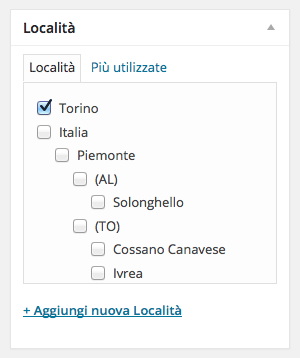 Ideas & Business – Tutorial, screenshot box Località